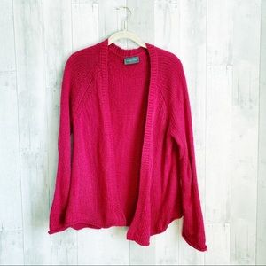 [Wooden Ships] Hot Pink Chunky Open Front Cardigan